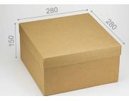 """Бельё картонное: Коробка """"Макси"""" № М0049-о4  280х280х150мм КРАФТ"""