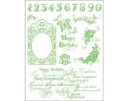 "Штамп силиконовый 14x18см ""Happy Birthday"""