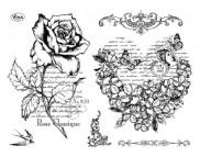 """Штамп силиконовый 14x18см """"Роза и сердечко"""""""