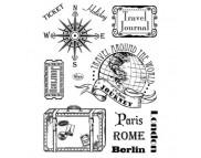 """Штамп силиконовый 14x18см """"Париж-Рим-Берлин"""""""
