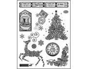 """Штамп силиконовый 14x18см """"Рождественская елка"""""""