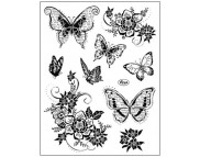 """Штамп силиконовый 14x18см """"Цветы и бабочки"""""""