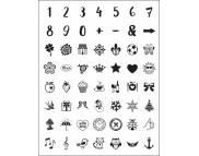 """Штамп силиконовый 14x18см """"Цифры и знаки"""""""