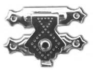 Замок металлический 24х18мм MFА-004 СЕРЕБРО