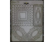 """Высечка из картона 071 """"Рамочки овальные и квадрат"""""""
