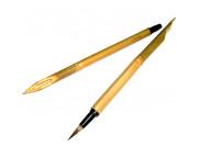 Набор бамбуковых перьев с кистью для письма и каллиграфии 3шт.