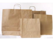 Пакет бумажный с витыми бумажн. ручками КРАФТ 18х,5х22см