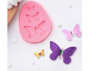 """Молд силиконовый """"Бабочки"""" 7,5х6х1см"""
