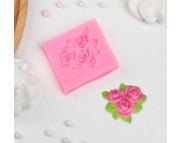 """Молд силиконовый """"Букет роз"""" 5,5х5см"""