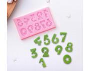 """Молд силиконовый """"Цифры со звездами"""" 7,5х4,5см"""