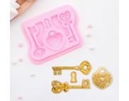 """Молд силиконовый """"Ключ от сердца"""" 8,5х6,8см цвета в ассортименте"""