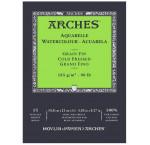 Альбом  для акварели 185г 100%хлопок Fin (Фин) Arches альбом. форм.15л 14,8х21см