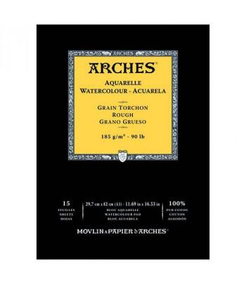 Альбом  для акварели 185г 100%хлопок Torschon (Торшон) Arches альбом.форм.15л  29,7х42см