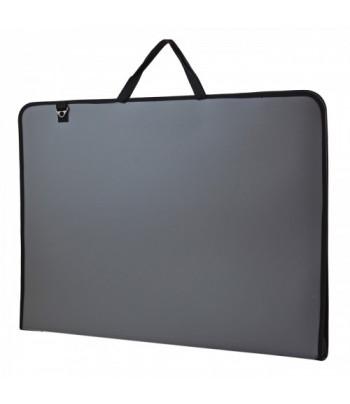 """Папка-сумка пластиковая """"Prestige"""" Santi 45х71,5х4см А2 СЕРАЯ"""