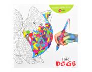 "Альбом для раскраски 20х20см 24стр ""Антистресс"" I like dogs"