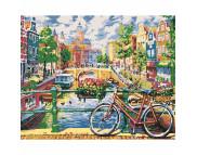 """Н-р живопись по номерам """"Амстердам""""(холст/подр 40х50+акрил.краски.+кисть+инструкц)"""