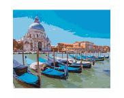 """Н-р живопись по номерам """"Венецианский пейзаж""""(холст/подр 40х50+акрил.краски.+кисть+инструкц)"""