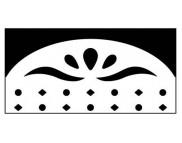 """Вкладыш для компостера бордюрного DL-AB606/01 """"Овальный орнамент 1"""""""