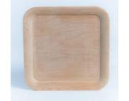 Блюдо для декора квадратное деревянное (ольха) 160х160мм