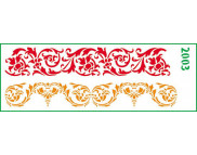 Трафарет декоративный 11х32см  2003 ОРНАМЕНТЫ-БОРДЮРЫ