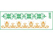 Трафарет декоративный 11х32см  2007 ОРНАМЕНТЫ-БОРДЮРЫ