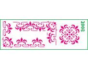 Трафарет декоративный 11х32см  2008 УГОЛКИ И ЦЕНТРАЛЬНЫЙ ОРНАМЕНТ