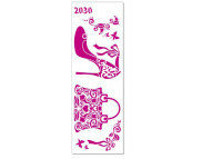Трафарет декоративный 11х32см 2030 СУМОЧКА И ТУФЕЛЬКА
