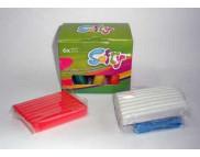 Набор пластилин SOFTY на восковой основе (6цветов Х 62гр)
