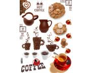"""16.3 Декупажная карта(лазерн.печать)29,5х42 """"Завтрак.Кофе с печеньем"""""""