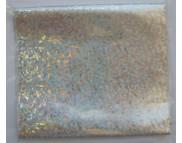 RR Фольга метал.на плёнке голографич.СЕРЕБРО  0,1м2 в зип пакете