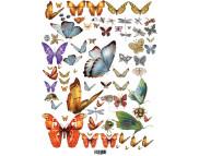 """16.8 Декупажная карта(лазерн.печать)29,5х42 """"Бабочки"""""""