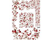 """16.10 Декупажная карта(лазерн.печать)29,5х42 """"Ковер из роз"""""""