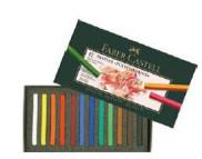Набор цветной пастели мягк.квадр 35мм Faber-Castell в картон.упак 24цв  /128224