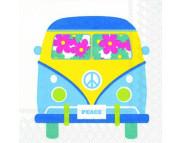 """R РАЗБИРАТЬ 18 Салфетка 25х25см (20шт) """"Цветной автобус"""""""