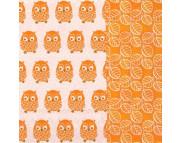 """R РАЗБИРАТЬ 6.2 Салфетка 33х33см (20шт) """"Забавные совы"""" оранжевый"""