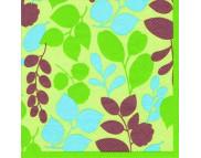 """R РАЗБИРАТЬ 10 Салфетка 33х33см (20шт) """"Веточки с листвой(силуэты)"""" зеленый"""