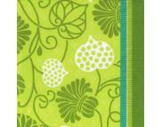 """R РАЗБИРАТЬ 16.6 Салфетка 33х33см (20шт) """"Узоры из листвы"""" зеленый"""