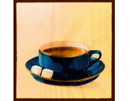 """R РАЗБИРАТЬ 9.3 Салфетка 33х33см (20шт) """"Чашка кофе"""" синий"""