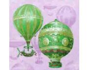 """R РАЗБИРАТЬ 20.2 Салфетка 33х33см (20шт) """"Воздушные шары"""" розовый"""