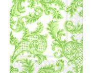 """R РАЗБИРАТЬ 16.4 Салфетка 33х33см (20шт) """"Узоры """"SANS SOUCI"""" бело-зеленый"""