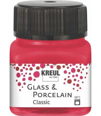 Краска покрыв./стекл.,фарф/водн.осн.(обжиг160*С)Porcelain Hobby Line Kreull CLASSIC 20мл КАРМИН