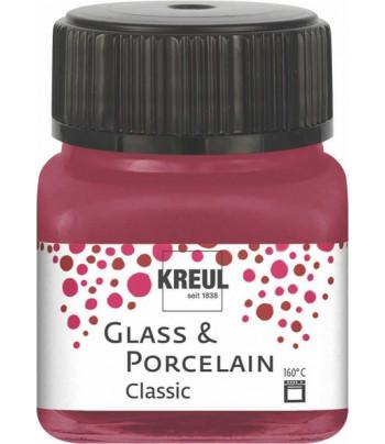 Краска покрыв./стекл.,фарф/водн.осн.(обжиг160*С)Porcelain Hobby Line Kreull CLASSIC 20мл ГРАНАТОВЫЙ