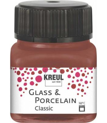 Краска покрыв./стекл.,фарф/водн.осн.(обжиг160*С)Porcelain Hobby Line Kreull CLASSIC 20мл КОРИЧНЕВЫЙ ТЁПЛЫЙ СВЕТЛЫЙ