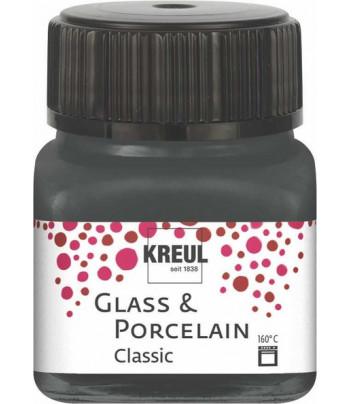 Краска покрыв./стекл.,фарф/водн.осн.(обжиг160*С)Porcelain Hobby Line Kreull CLASSIC 20мл СЕРЫЙ