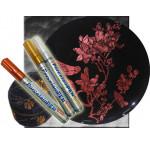 Маркер по стеклу,фарфору,прочн/(обжиг160*С)Glass & Porcelain Pen Hobby Line Kreul 2-4мм METALLIC СЕРЕБРО