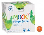 *Набор пальчиковых красок MUCKI (4цвх150мл)