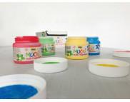 Набор пальчиковых красок по тканям MUCKI TEXTIL (4цвх150мл)