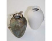 """Ваза""""Адам""""керамическая белая для декорирования d70мм h120мм"""