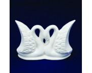 Лебединая пара керамические белые для декорирования h85мм