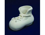 Ботинок со шнуровкой керамический белый для декорирования L90мм